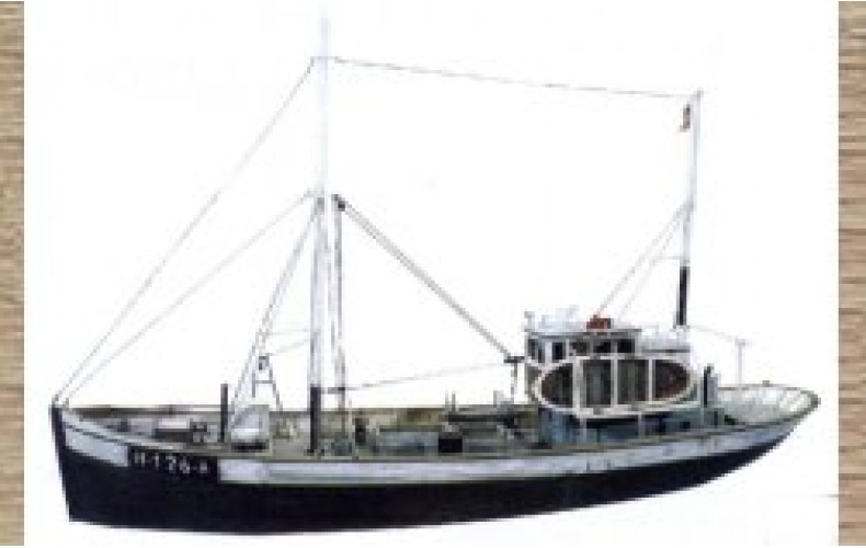 50107 Large Fishing Trawler - Waterline (OO/HO Scale 1/87th)