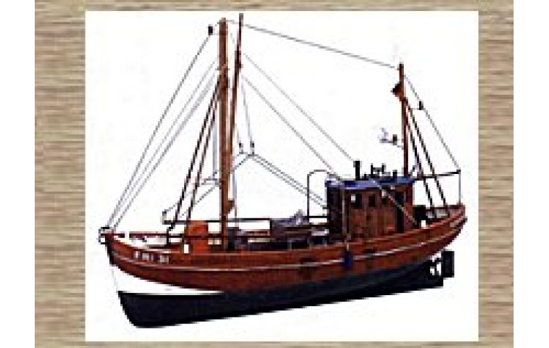 50115 Small Fishing Trawler (Shrimp Cutter) - Full Hull (OO/HO Scale 1/87th)