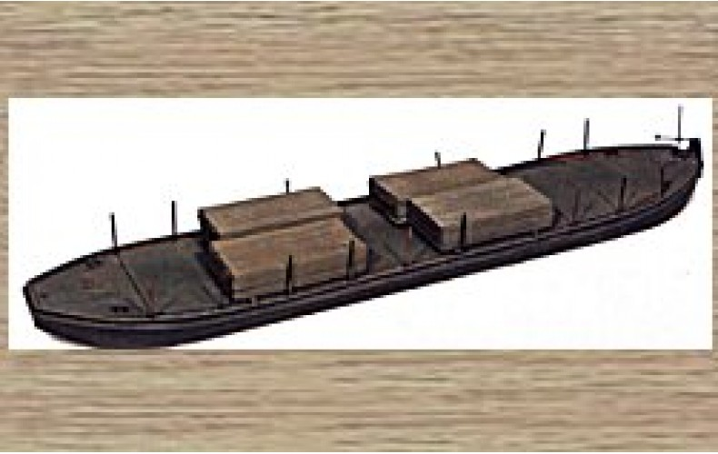 50102 Flat bottomed barge (OO/HO Scale 1/87th)