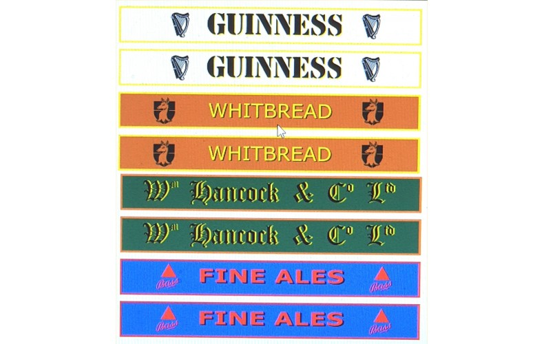T16G4d1 Nameboard Decals for G4 Brewery Wagon (OO scale 1/76th)