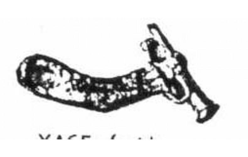 xa65 Trumpet Arm Slight bend (54mm scale)