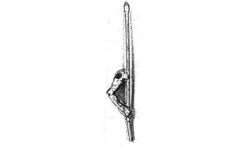 xa77 Plain arm right and spear (54mm Scale)